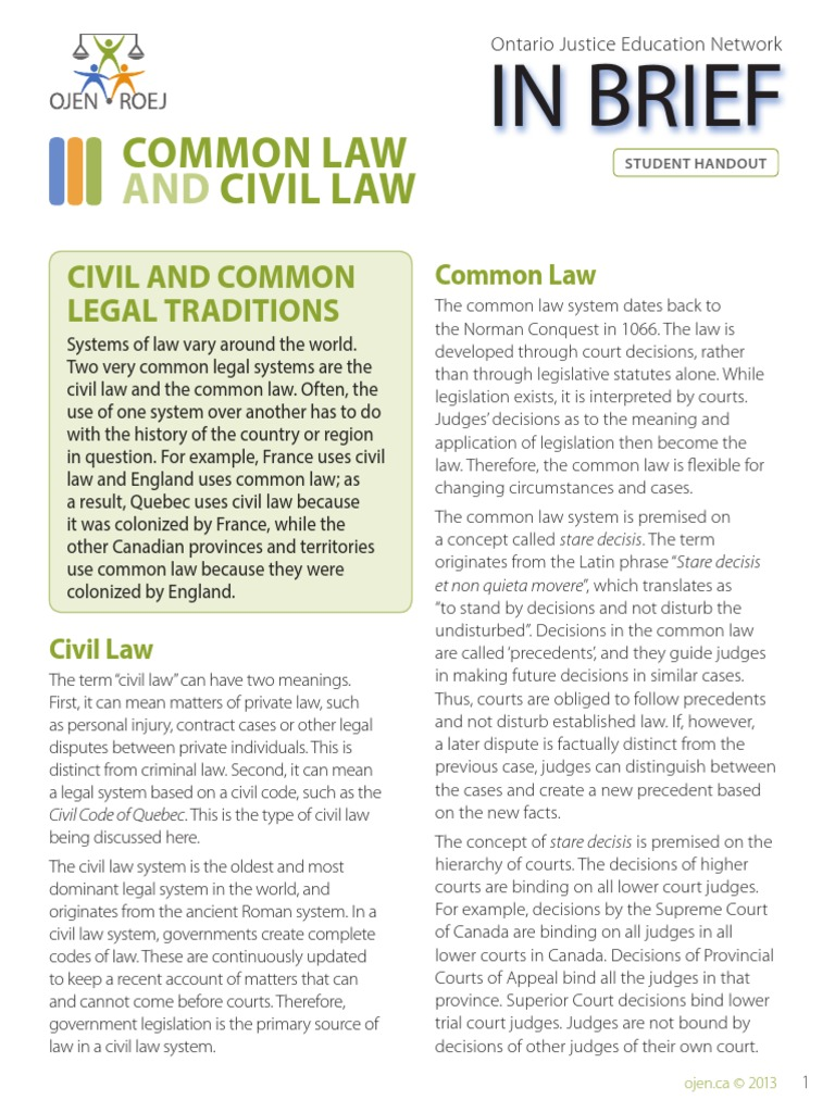 civil law and canon law on
