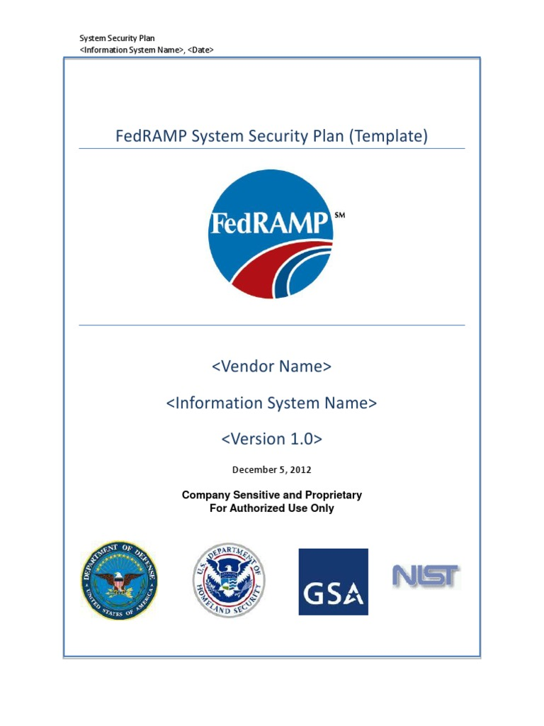 system security plan template 01102007 Instructions for preparing the system security plan (ssp): (1) aca system security plan procedures, (2) aca system security plan template, and (3) aca system security plan workbook.