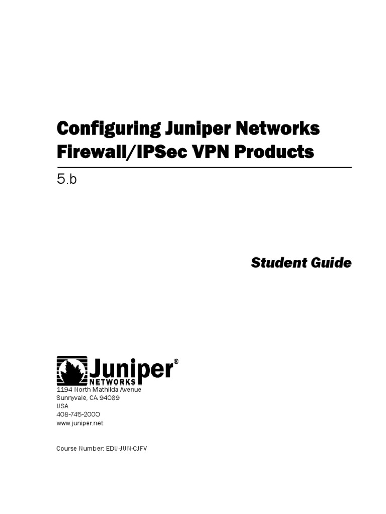 Configuring Juniper Networks FW_VPN - DocShare tips