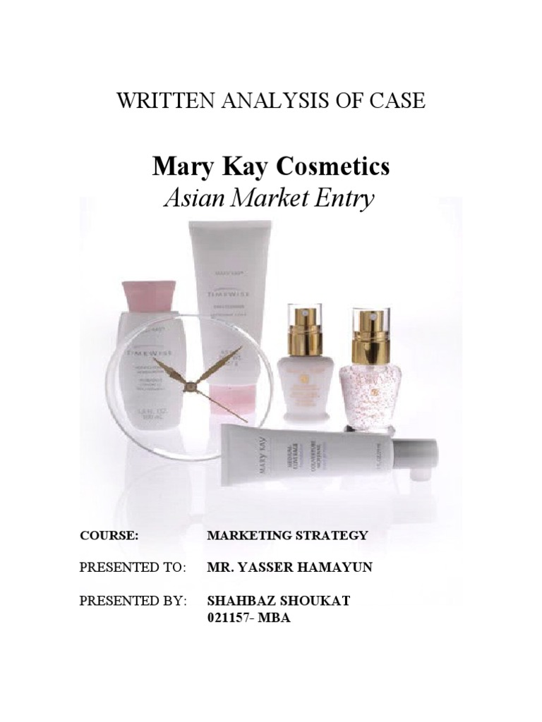mary kay cosmetics case study Harvard business case studies solutions - assignment help mary kay cosmetics, inc: sales force incentives (b) is a harvard business (hbr) case study on finance & accounting , fern fort university provides hbr case study assignment help for just $11.