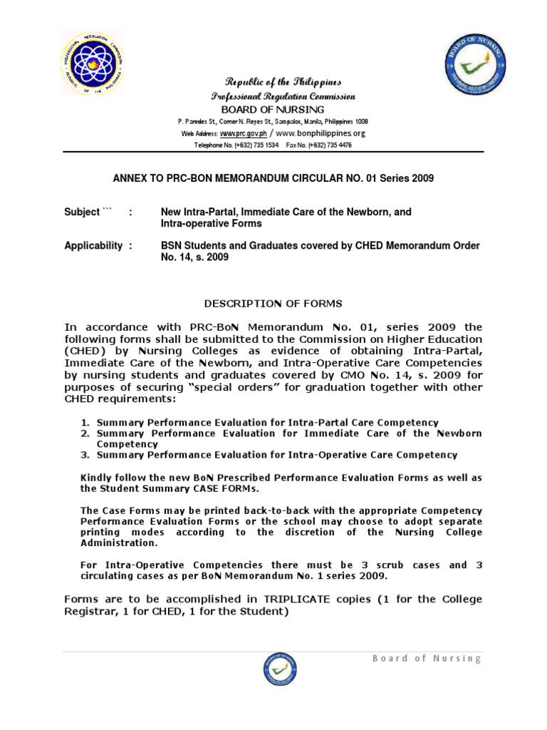 PRC-BON Memorandum Order No  1 Series of 2009 ANNEX - DocShare tips