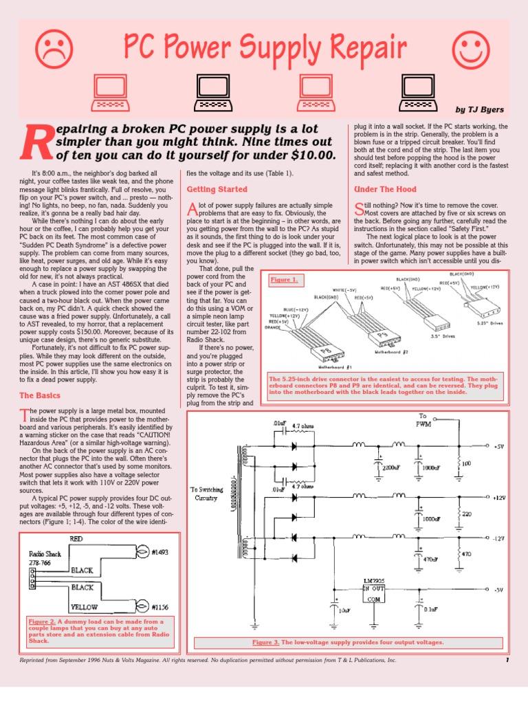 Power Supply Troubleshooting Repair By Lanny Logan - Karmashares LLC ...
