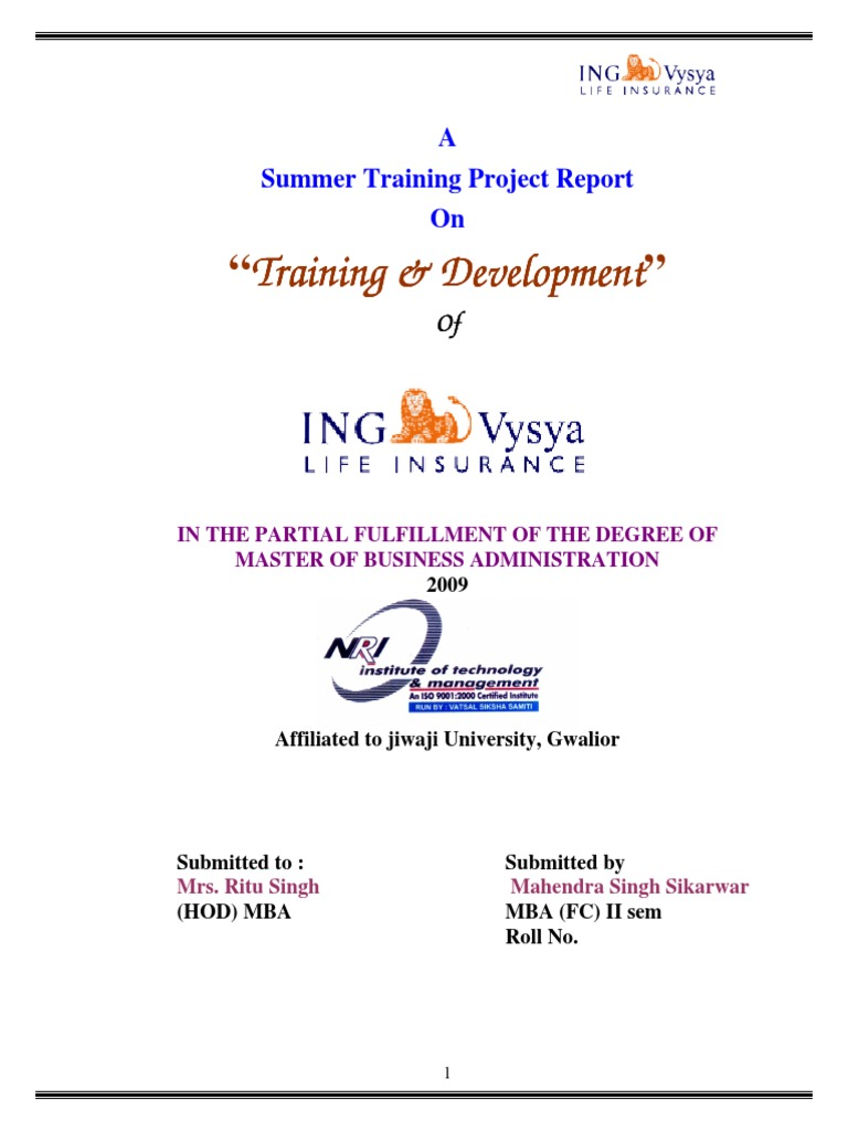 project report ing vysya Ing bank merges with kotak bank nishith desai associates this report is a copyright of nishith desai associates all-stock acquisition of ing vysya bank limited.