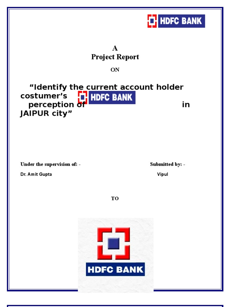 report on hdfc bank