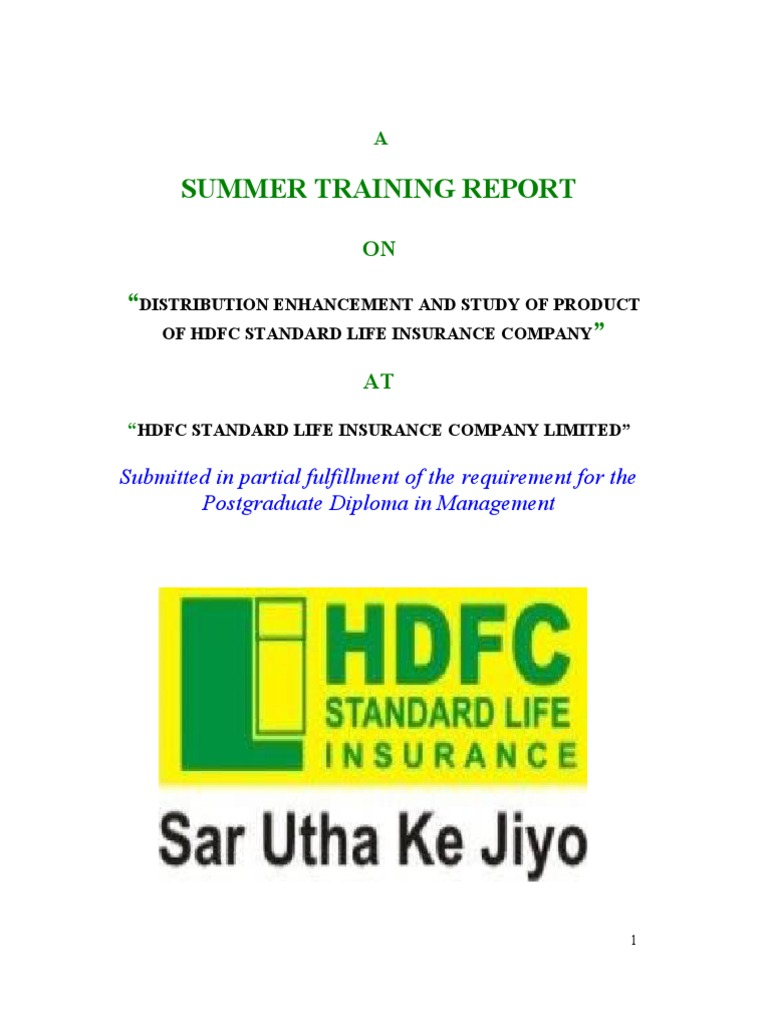 summer training report on sbi life insurance This category consists of mba projects in finance,business and hr category and these mba project reports are free to download, other services we are providing here are all bba management projects, mba projects ideas, mba projects reports, mba projects in hotel, hospitality, scm, logistics, tqm and operations.