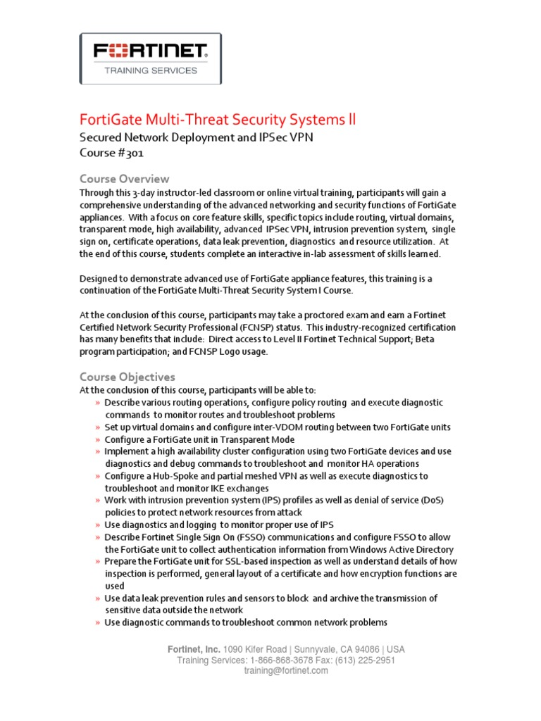 301 - FortiGate Multi-Threat Security Systems ll.pdf - DocShare.tips