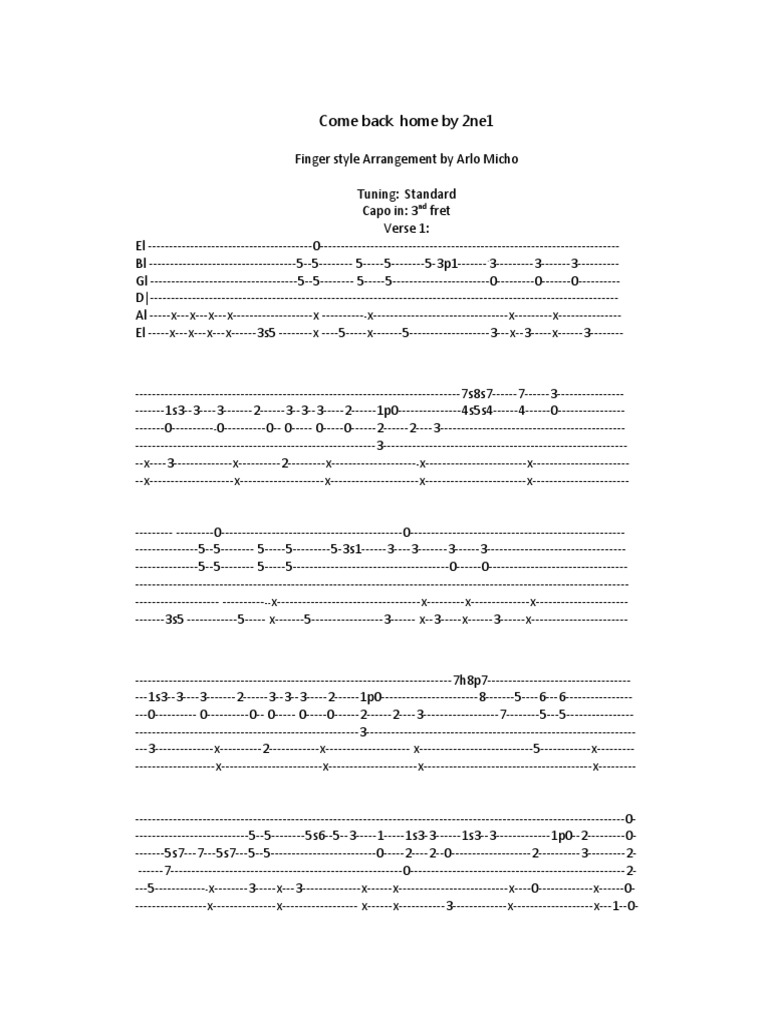 More than words guitar chords image collections guitar chords download more than words chords ver 6 by extreme tabs ultimate come back home by 2ne1 hexwebz Image collections