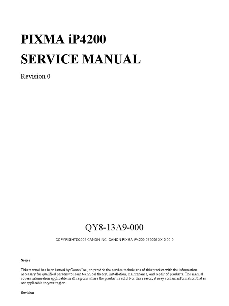 Service manual Canon IP 4200
