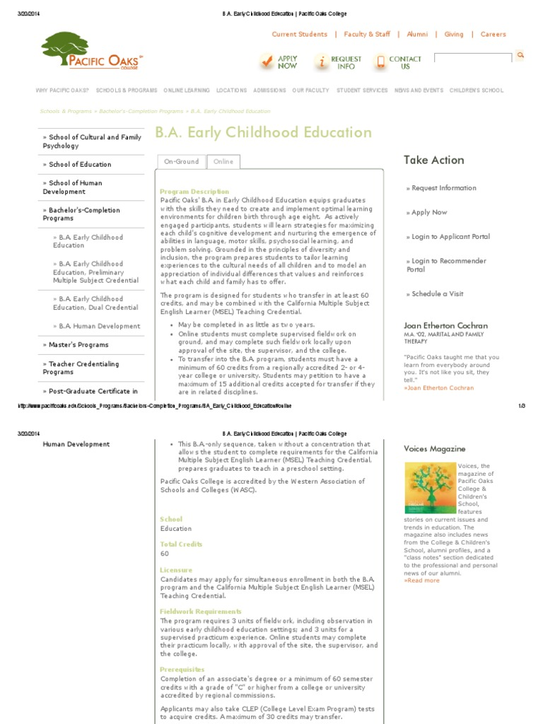 Download early childhood education online courses docshare early childhood courses online pacific oaks college 1betcityfo Image collections
