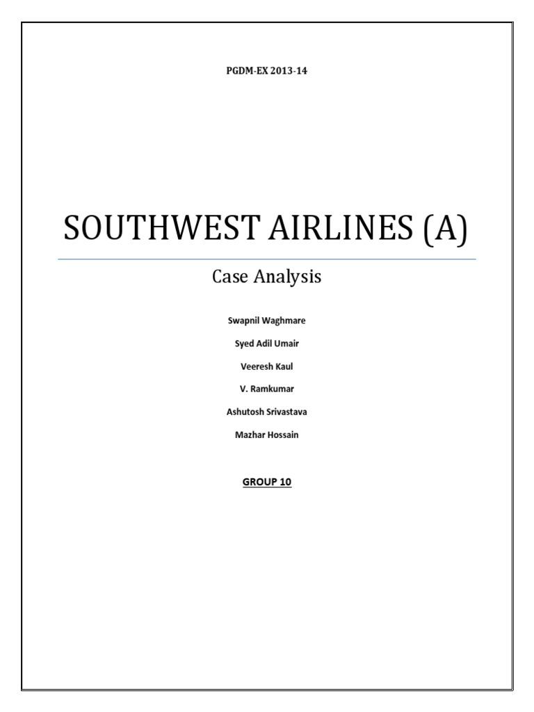 southwest airlines in baltimore case analysis As noted in the case southwest airlines co case 1 southwest airlines form 1 0-k 1990's southwest entered baltimore washington international airport.