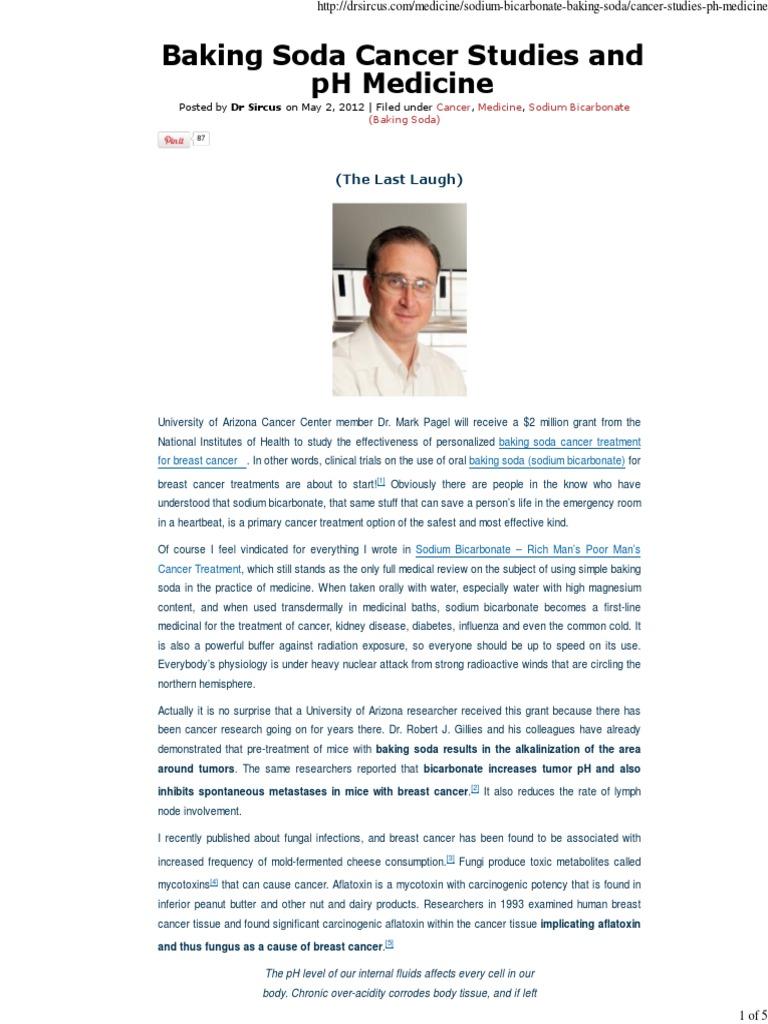 Download Baking Soda Cancer Studies and pH Medicine _ Dr