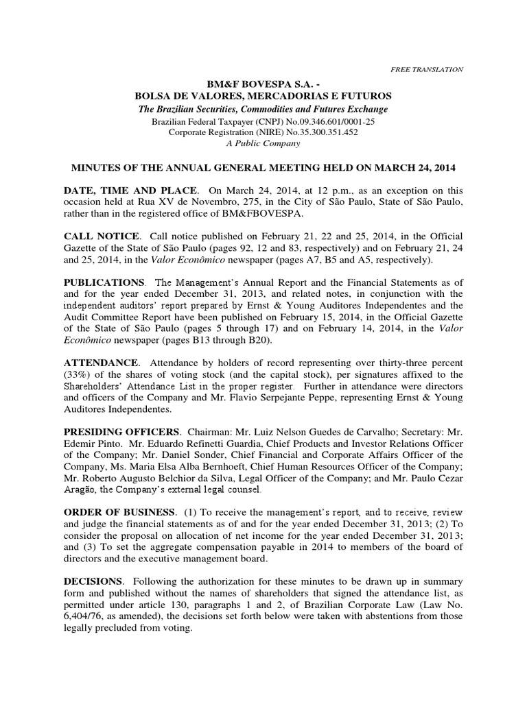 annual shareholders u0026 39  meeting - 03 24 2014