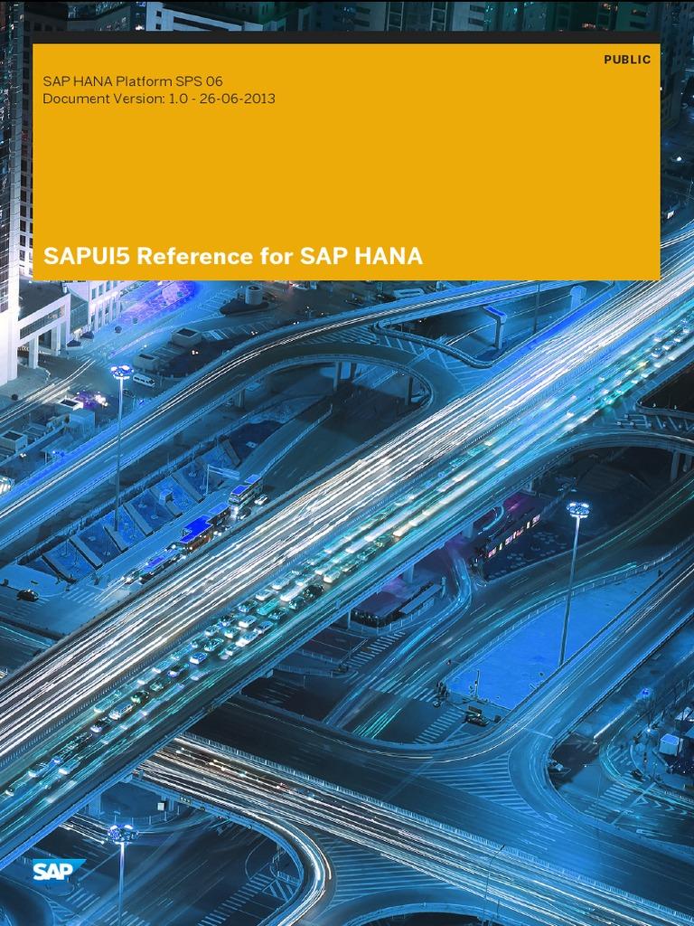 SAP UI5 Reference for SAP HANA En - DocShare tips
