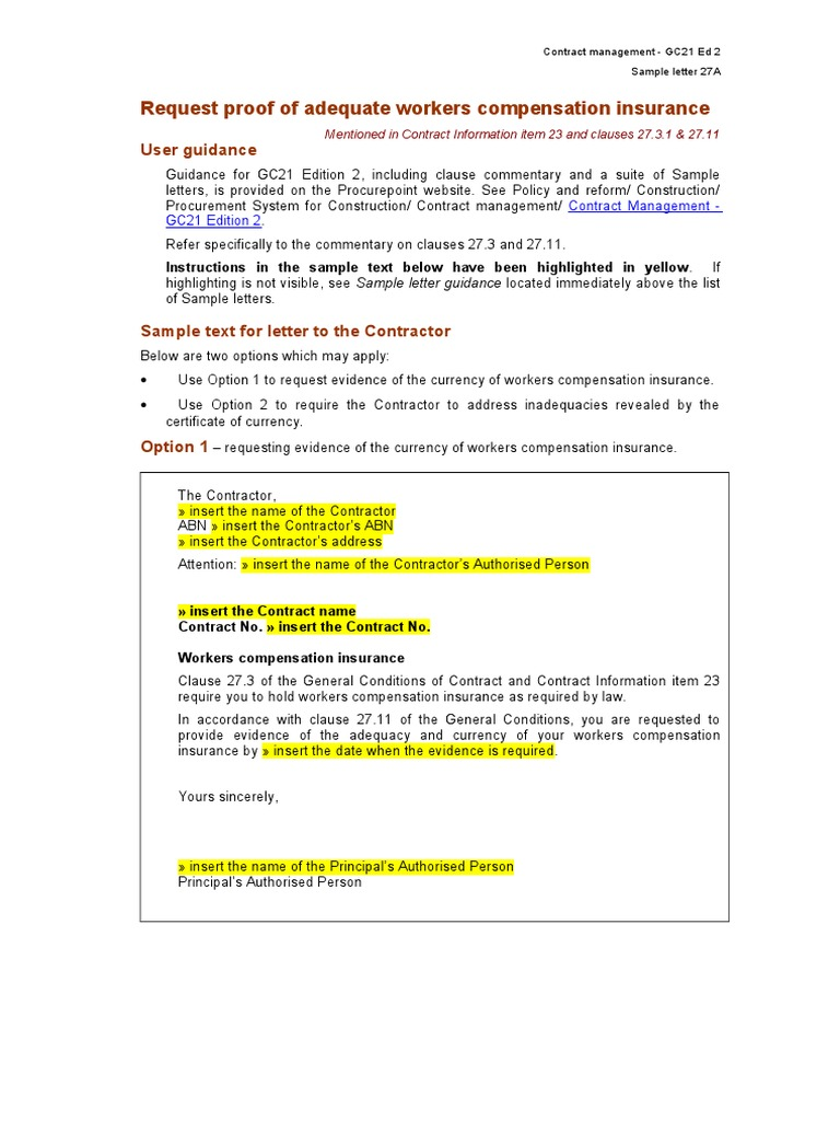 sample letter requesting certificate of insurance
