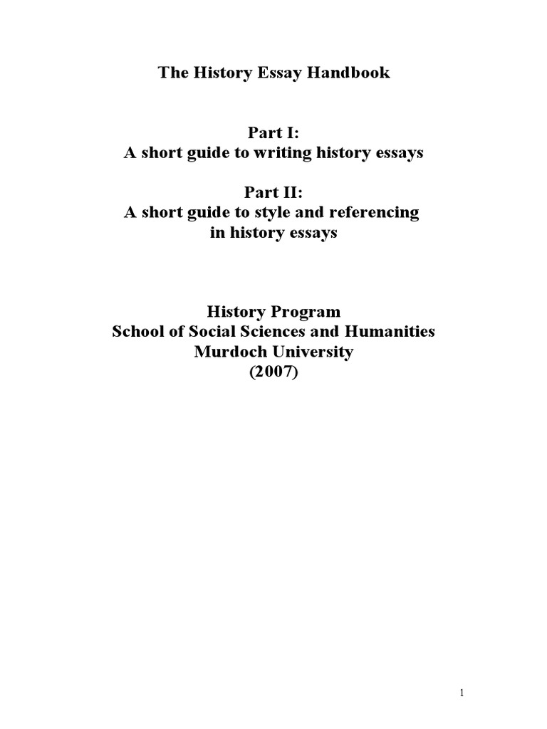 guide to writing history essays