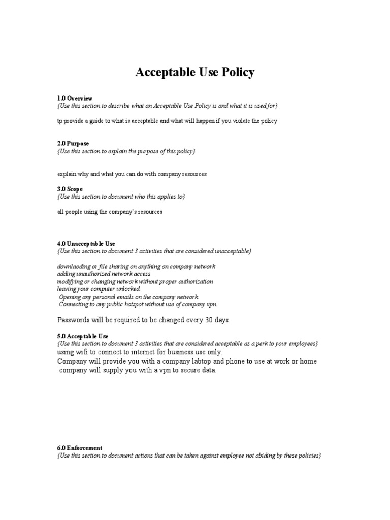 Download Example Of An Acceptable Use Policy Aup Brochure Ethical