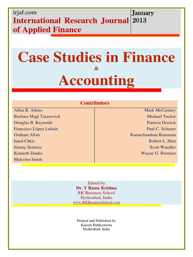 finance case studies 2 select a financial case from among the 20 case studies available on the class from finance 101 at rutgers.