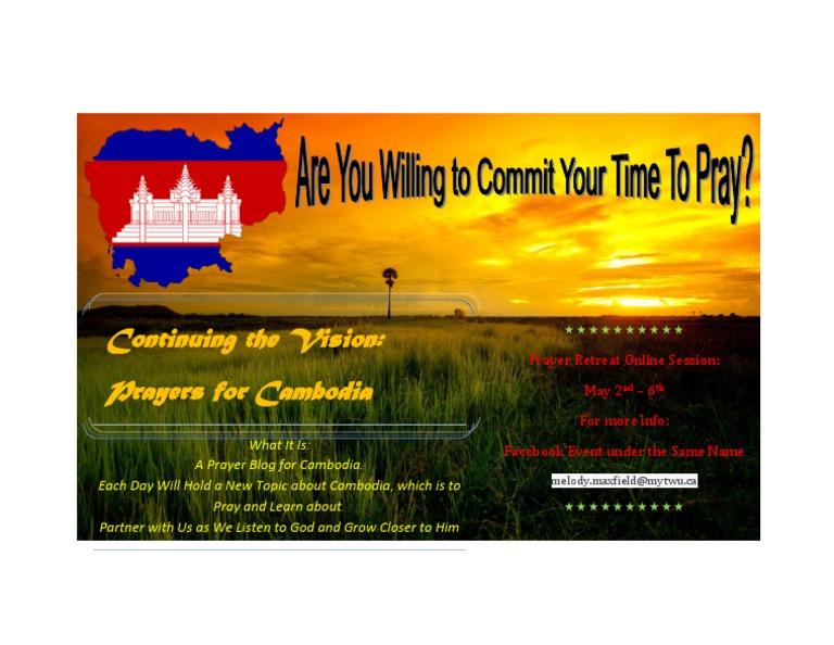 Prayers for Cambodia Poster - DocShare tips