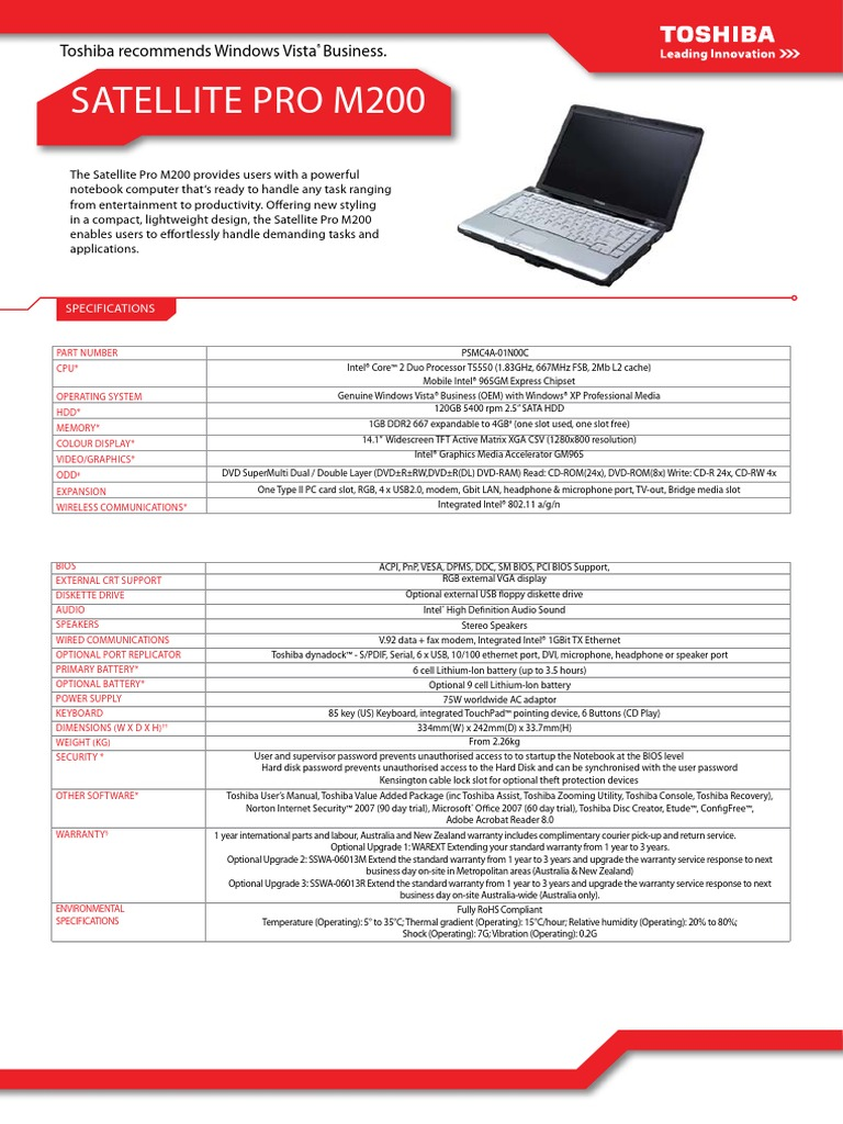 toshiba satellite a300 manual download