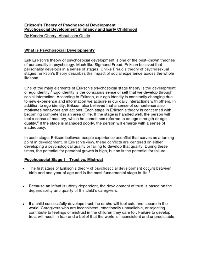 Erik Erikson Stages Of Development Chart Here Is Eriksons Theory Erik Erikson Essay Erik Erikson S Eight Stages Of Psychosocial  Psychoanalytic Theory Essay Psychoanalytic Theory Essay