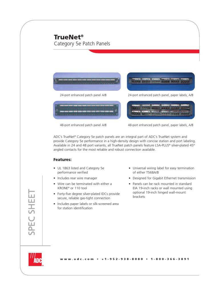 Download Patch Panel Panduit Rj45 Wiring Diagram