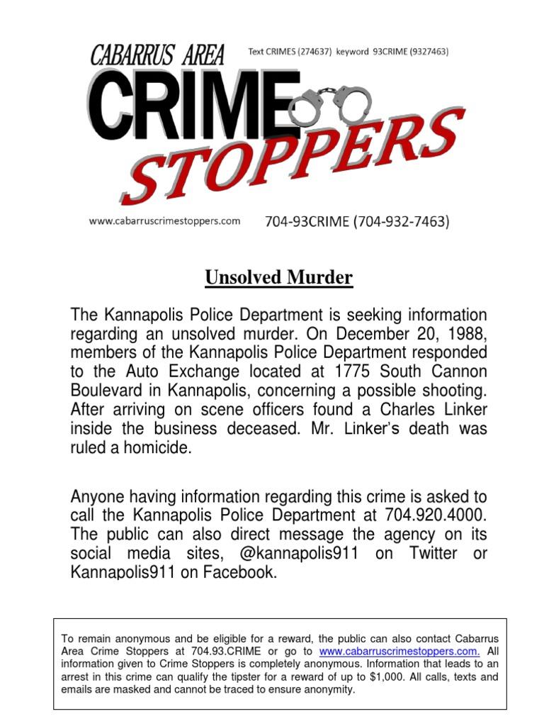 Charles Linker Murder (TLS) - DocShare tips