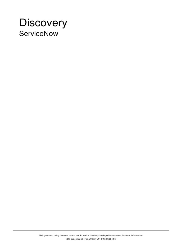 ServiceNow Discovery in Detail - DocShare tips