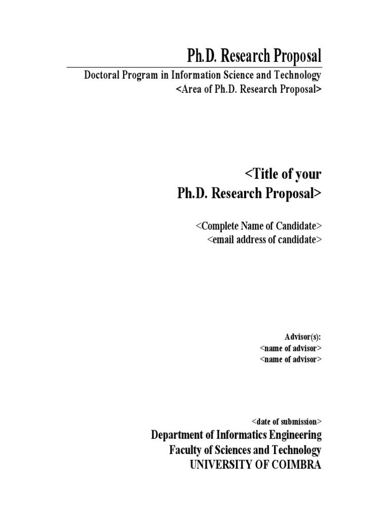phd proposal template