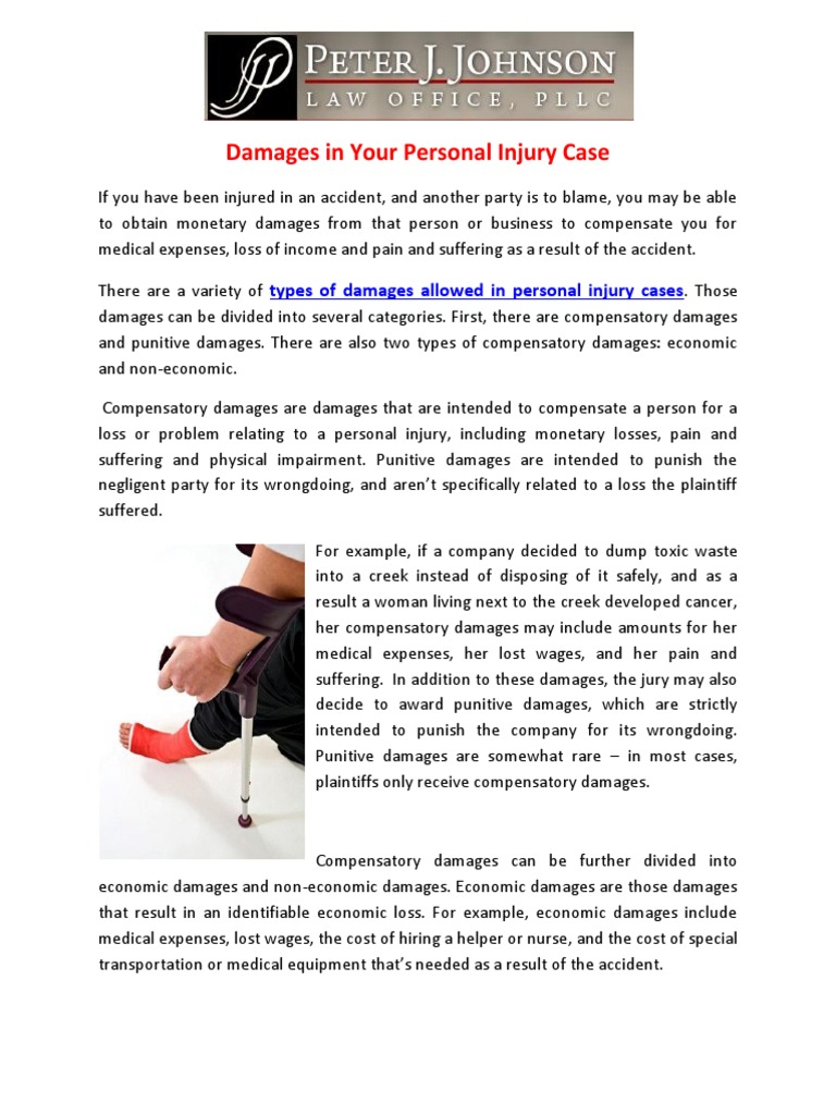 Download Damages In Your Personal Injury Case Docshare