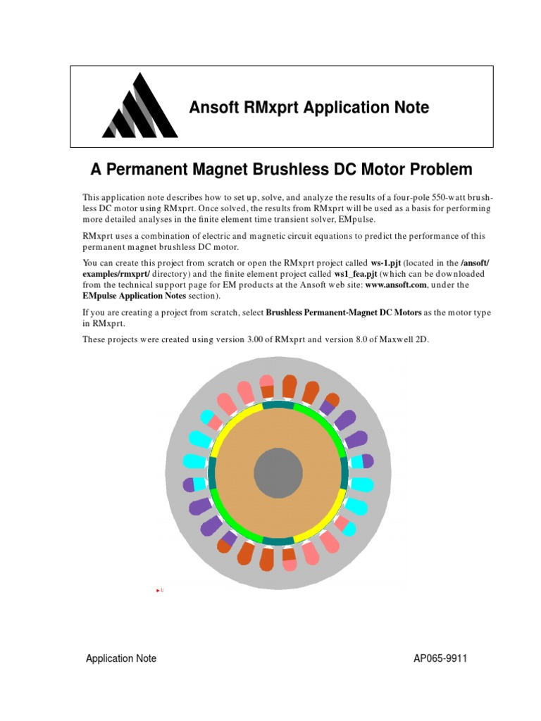 Download 213607470 A Permanent Magnet Brushless Dc Motor Problem Diagram