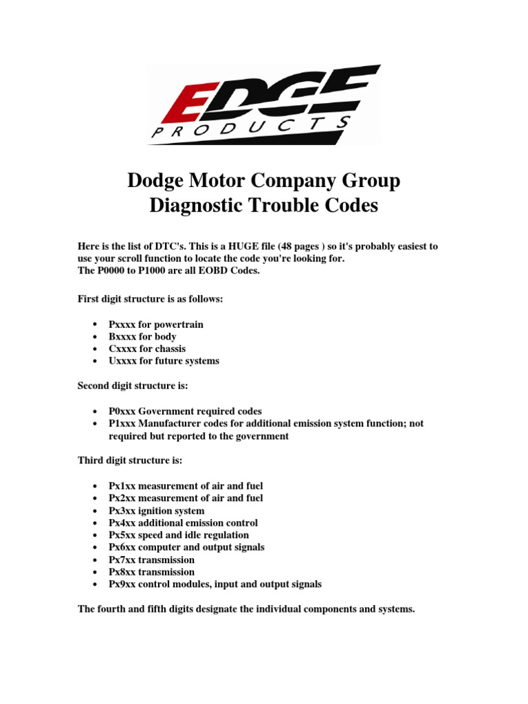 Dodge Ram Fault Codes - DocShare tips