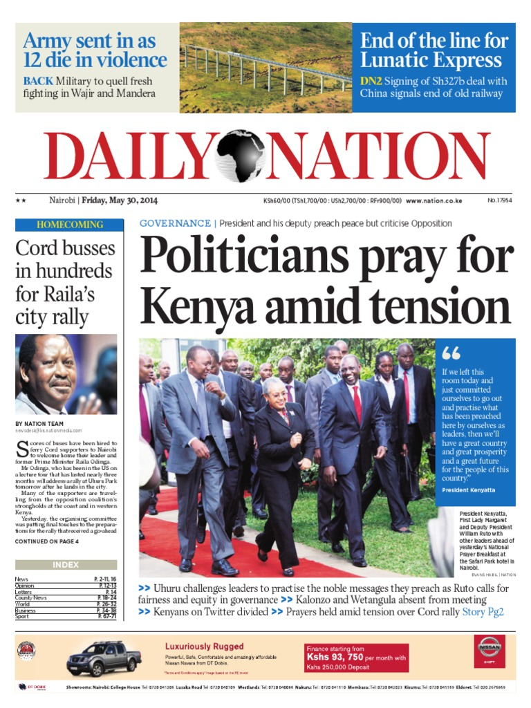 1f640576f2 Daily Nation 30.05.2014 - DocShare.tips