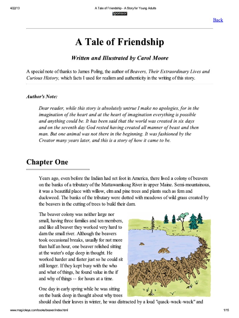 Download A Tale of Friendship - A Story for Young Adults - DocShare tips