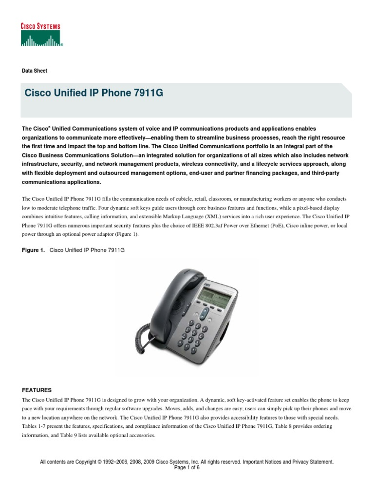 Download manual Cisco IP Phone 7925G pdf - DocShare tips