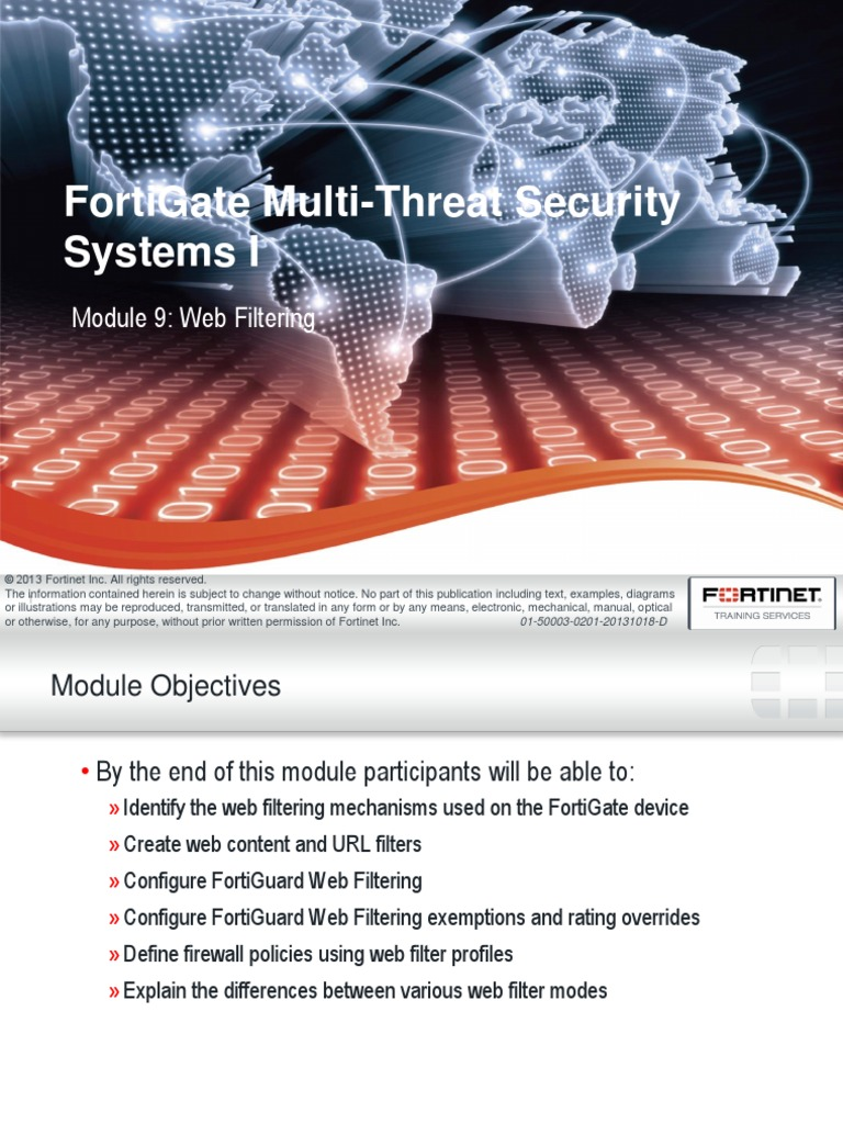 Fortinet 201 FG Web Filtering - DocShare tips