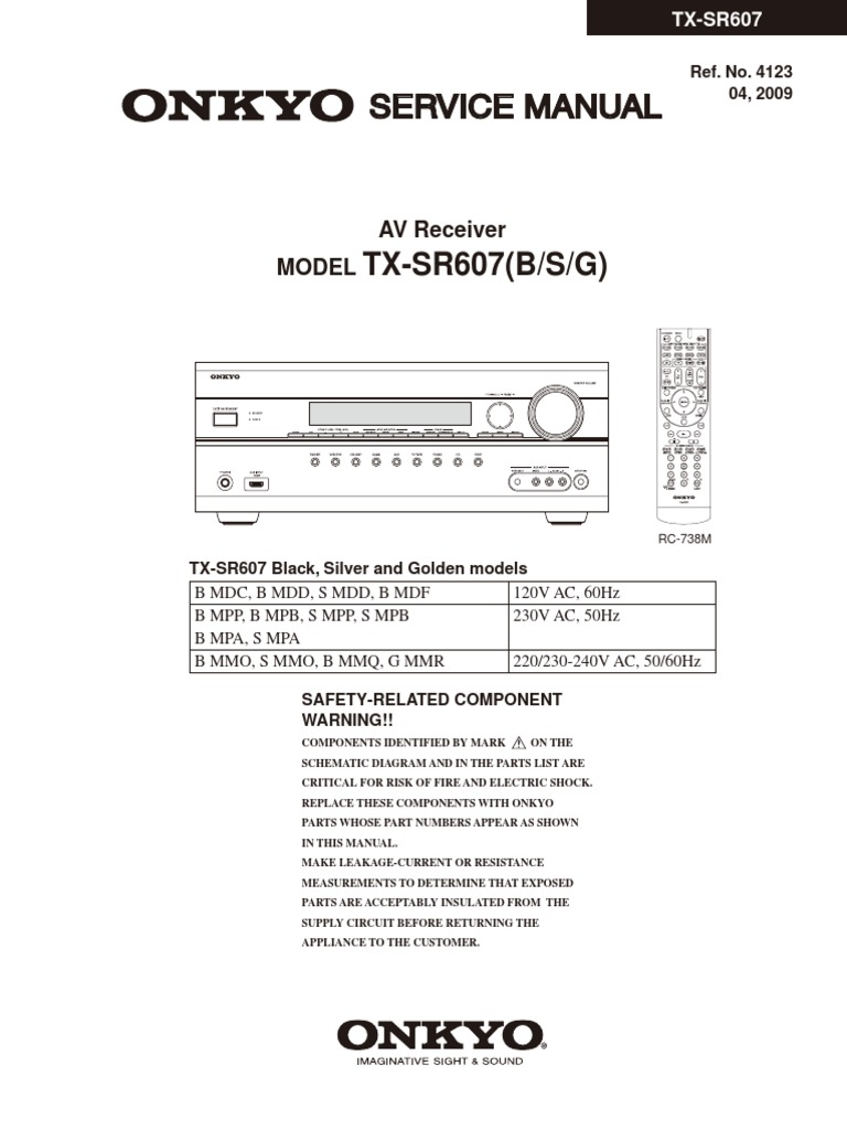 hfe onkyo tx sr607 service manual docshare tips rh docshare tips Owner's Manual Chilton Repair Manual