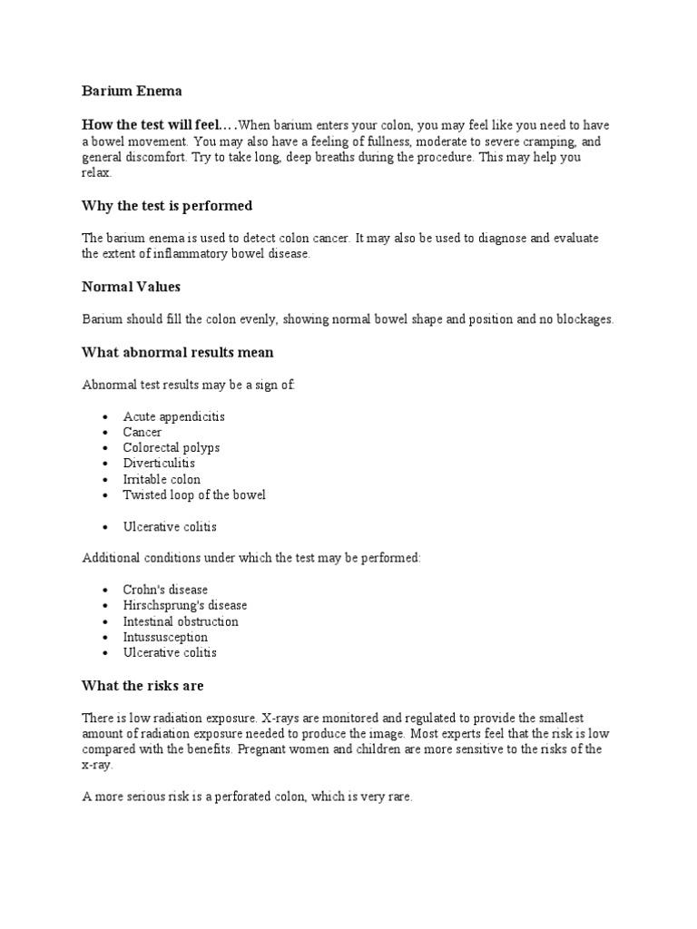 Barium Enema - DocShare tips