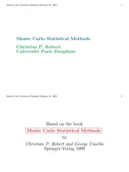 Markov Chain Monte Carlo for Statistical Inference search results