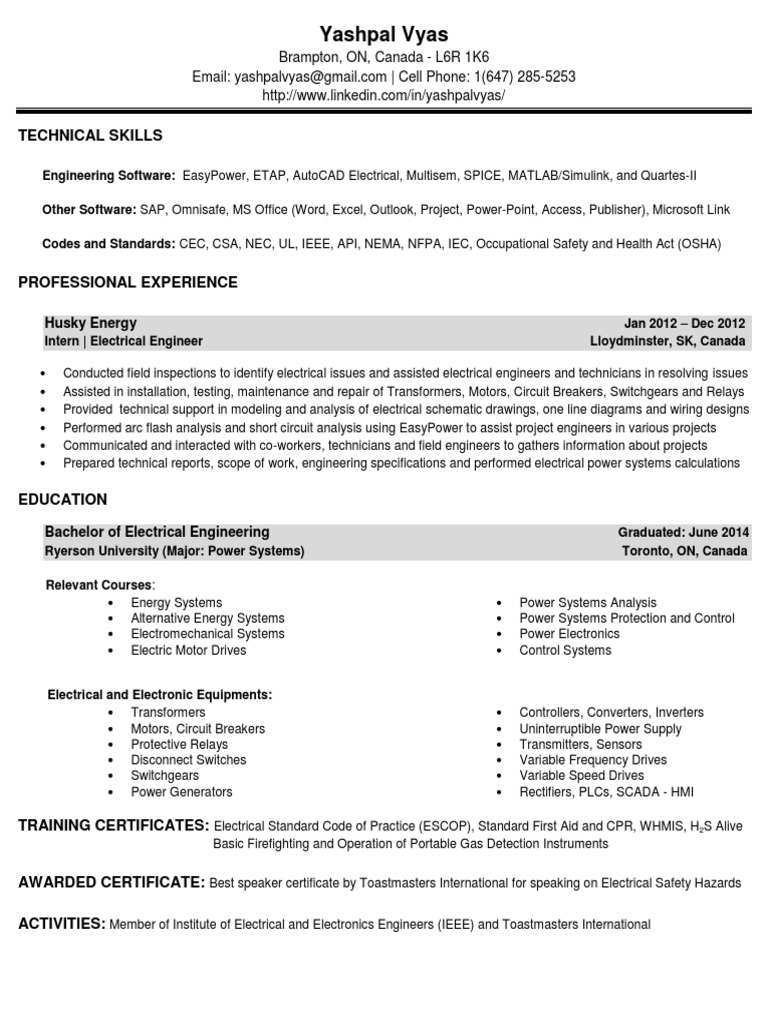 Magnificent Husky Energy Resume Image Collection - Administrative ...