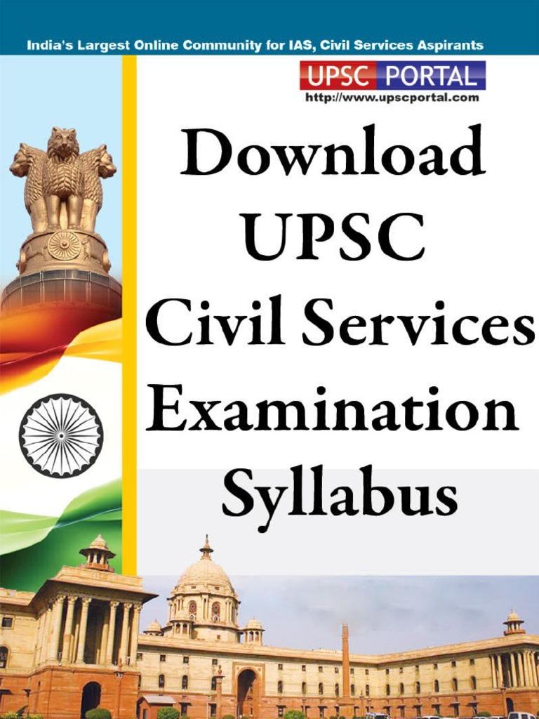 Download Upsc Civil Services Examination Syllabus Www