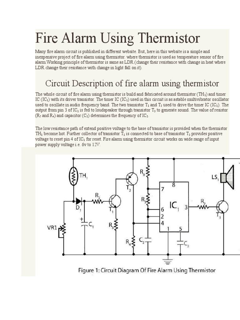 fire alarm using thermistor docshare tipsFire Alarm Circuit With Temperature Sensor #18