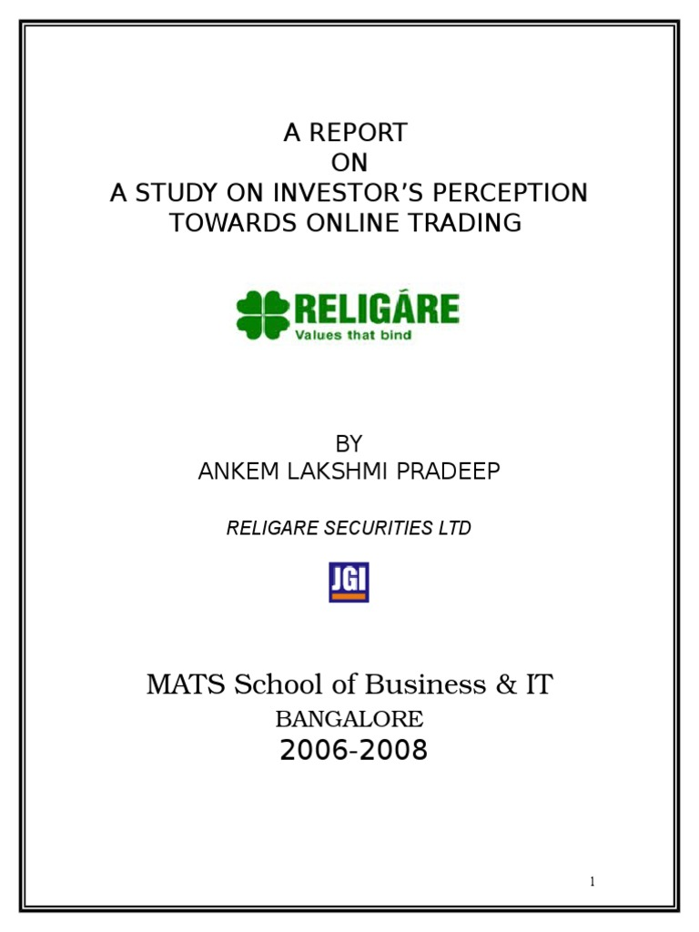 to analyze perception of investor's for