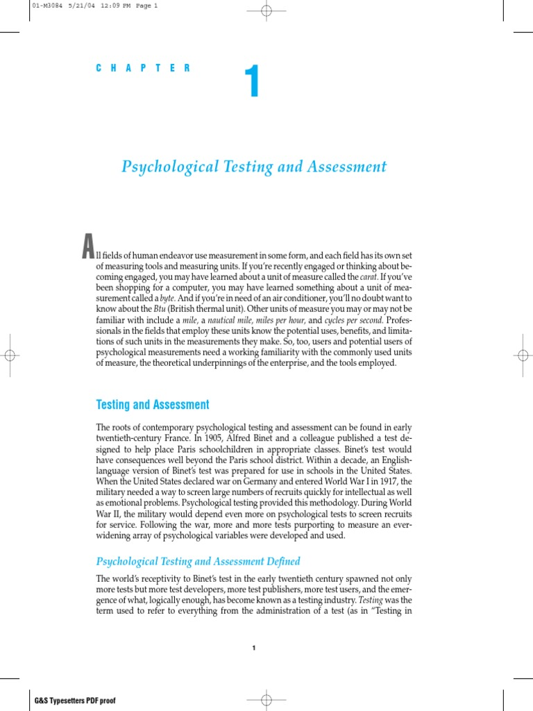 Download Psychological Testing & Assessment - DocShare tips