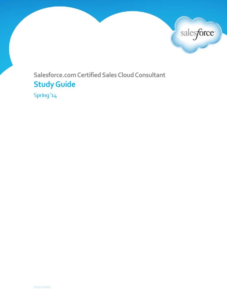 Salesforce Certified Sales Cloud Certification Docshare