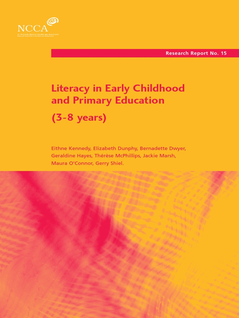 essays on literacy in early childhood Reading: building preschool children's language and literacy one storybook at a time firstly, this reading describes that some early childhood.
