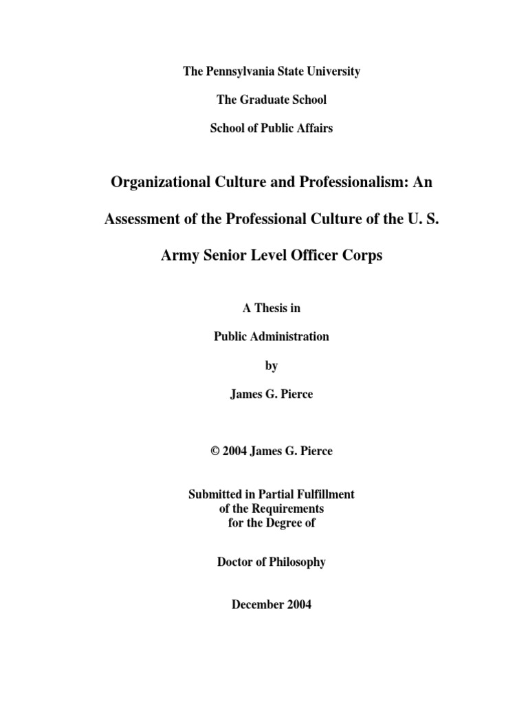 Thesis on organizational culture and job satisfaction