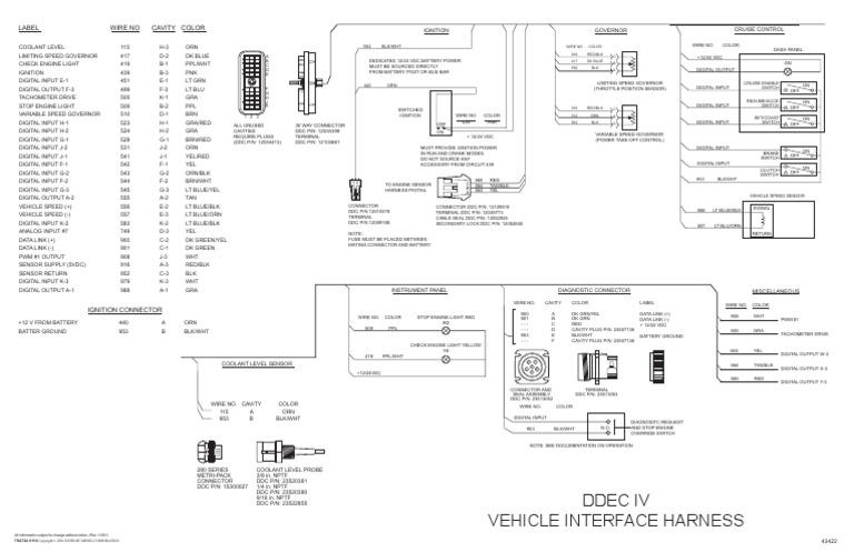 ddec 4 wiring diagram j1939 wiring diagram DDEC IV Engines ddec iv wiring schematic for wiring diagram