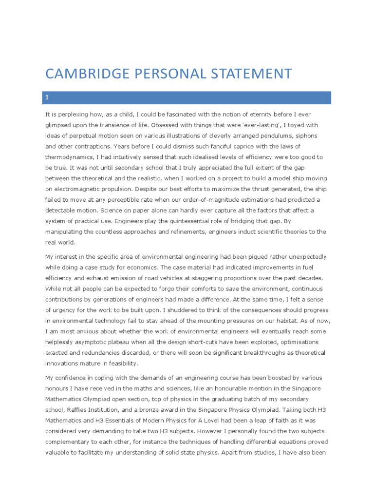 economics personal statement cambridge The business management & economics summer program in cambridge would suit those studying economics or business who also wish to develop the reach cambridge business management & economics course aims to provide a broad introduction to the subjects, perfect for those interested.
