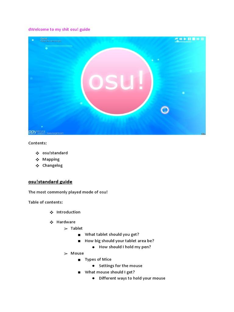 Osu Beginner Guide Osu Beginner Guide Osu Beginner Guide