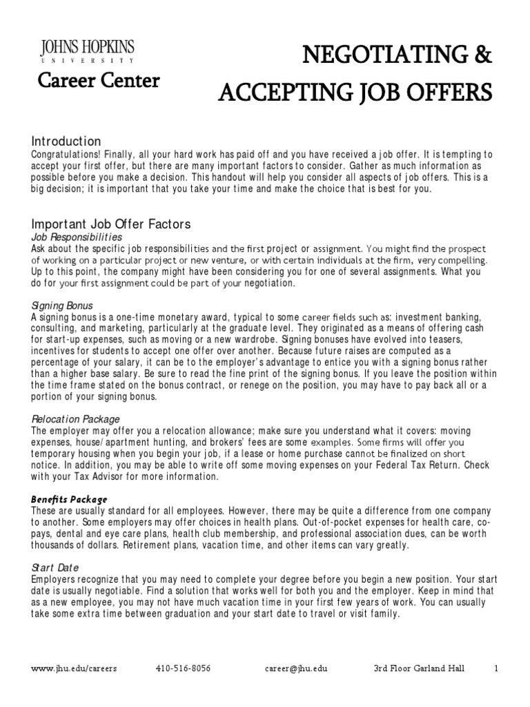 Download 301 Accepting a Job Offer Letter DocSharetips